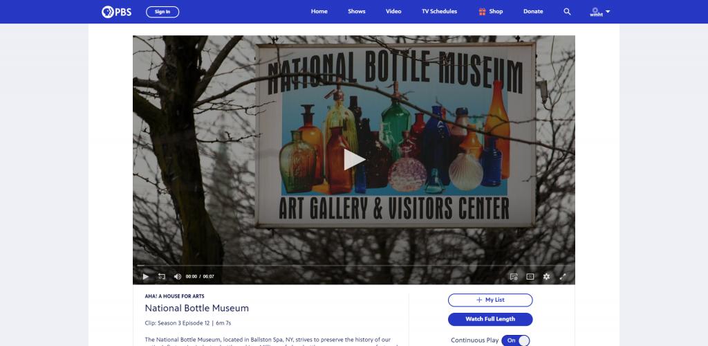 Bottle Museum on WMHT