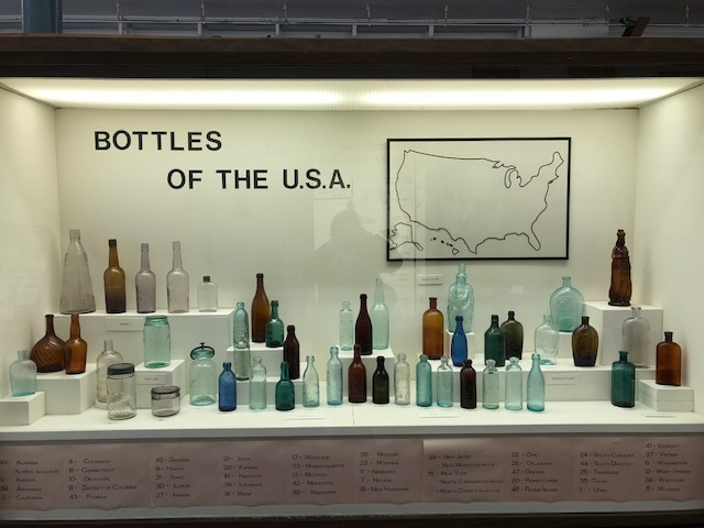 Bottles from Around the USA exhibit